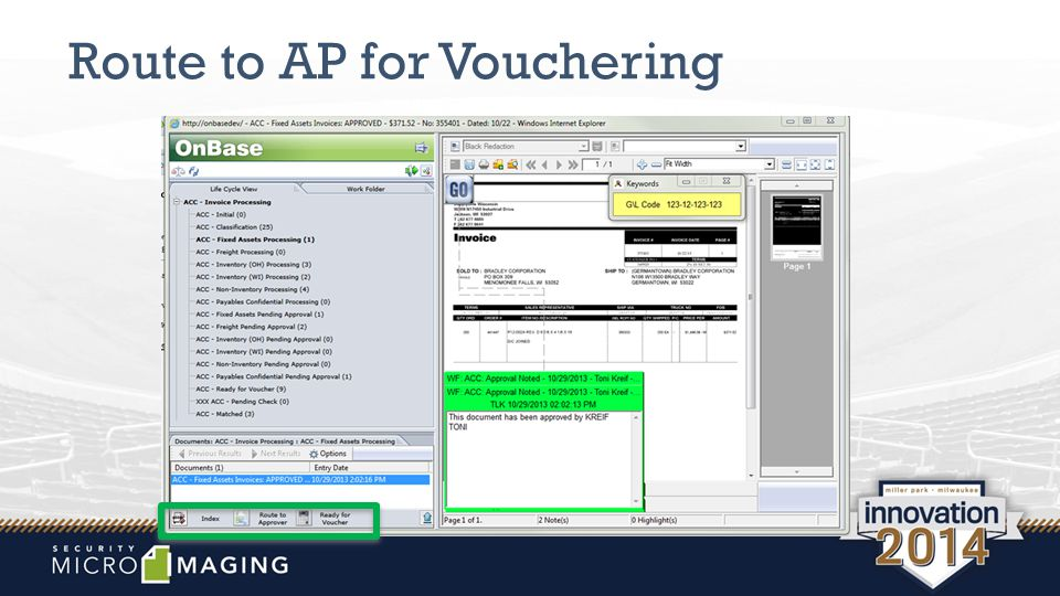 Route to AP for Vouchering