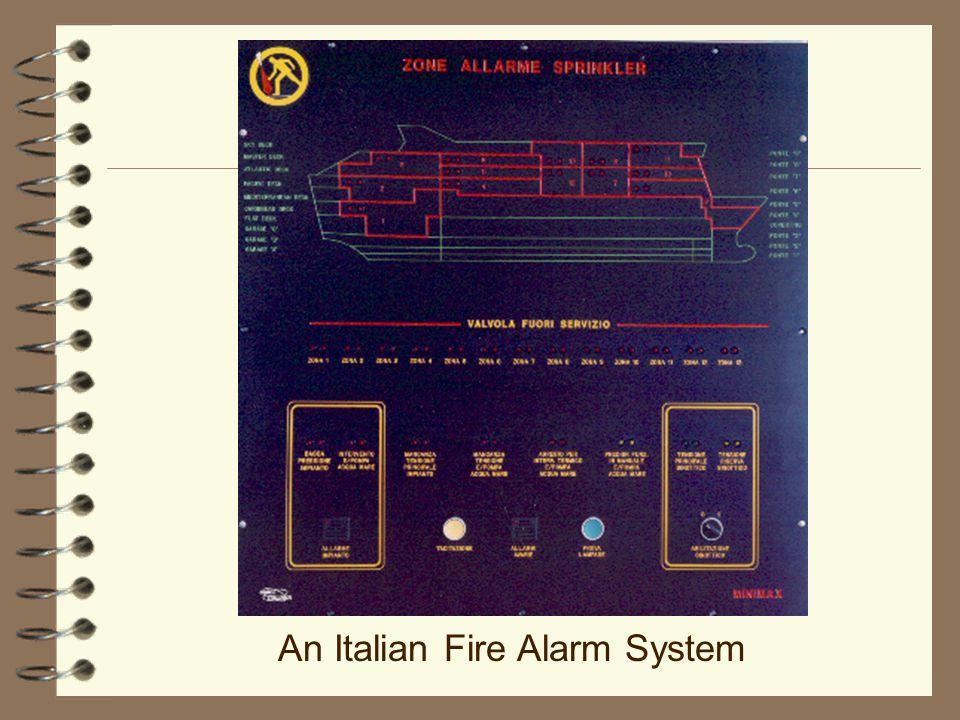 An Italian Fire Alarm System
