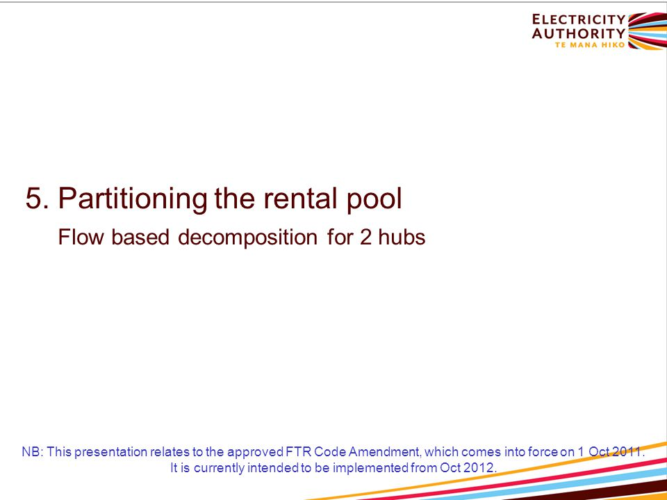 NB: This presentation relates to the approved FTR Code Amendment, which comes into force on 1 Oct 2011.