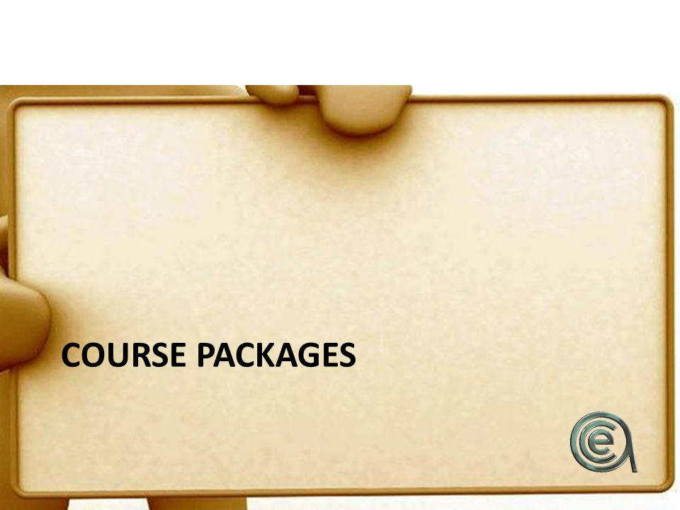 COURSE PACKAGES