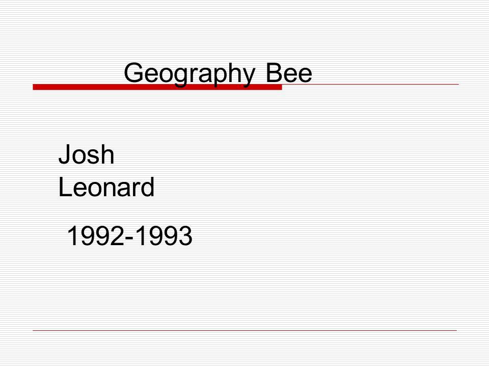 Geography Bee Josh Leonard 1992-1993