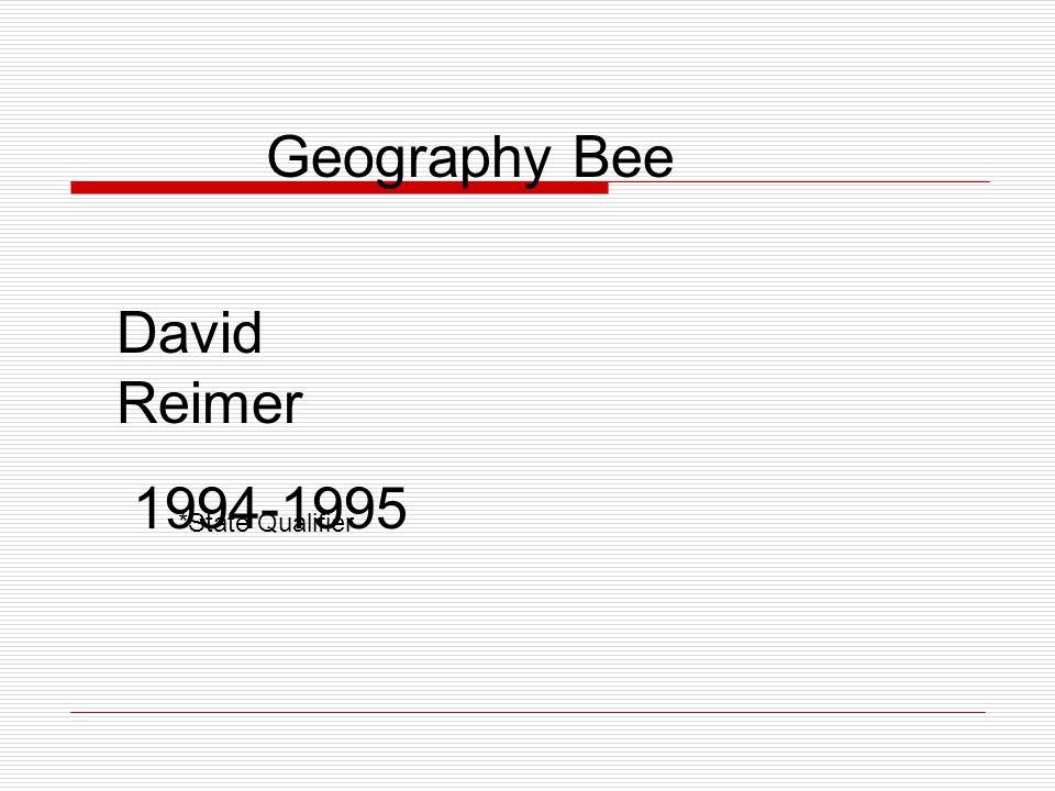 Geography Bee Wade Goodwin 1995-1996