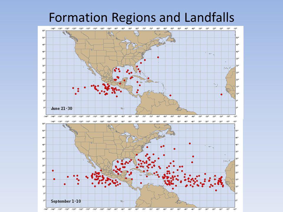 Formation Regions and Landfalls