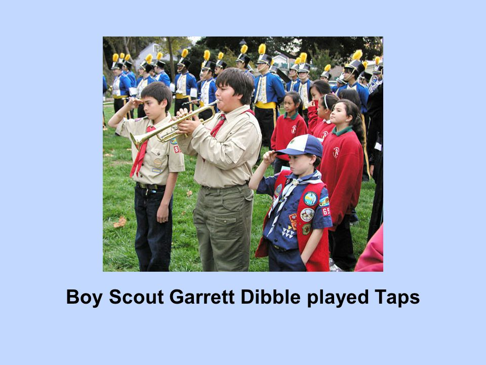 Boy Scout Garrett Dibble played Taps