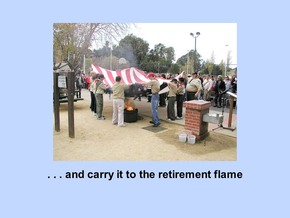 ... and carry it to the retirement flame