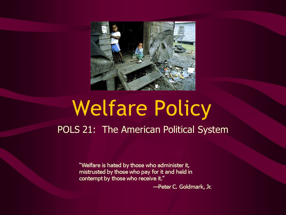 Reforming Welfare It's time to honor and reward people who work hard and play by the rules.