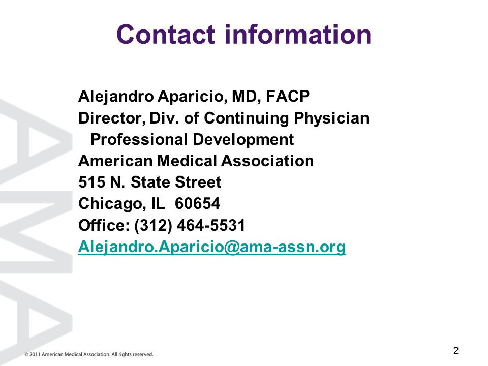 2 Contact information Alejandro Aparicio, MD, FACP Director, Div.