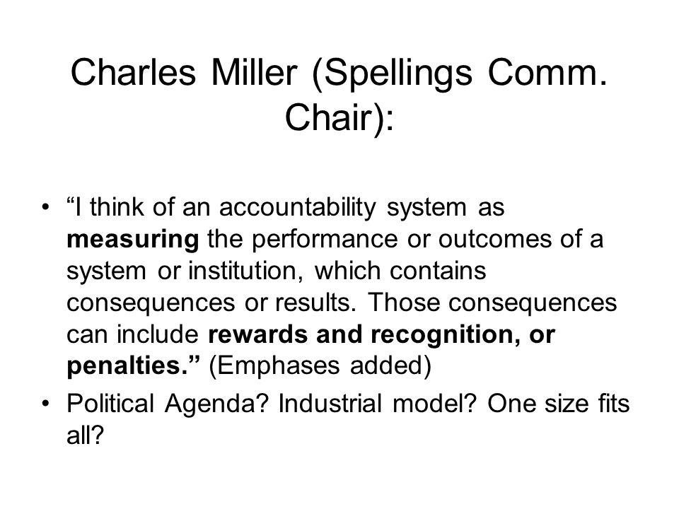 Charles Miller (Spellings Comm.
