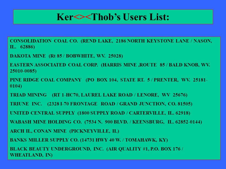 CONSOLIDATION COAL CO.(REND LAKE, 2186 NORTH KEYSTONE LANE / NASON, IL.