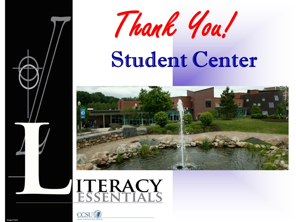 Thank You! Student Center