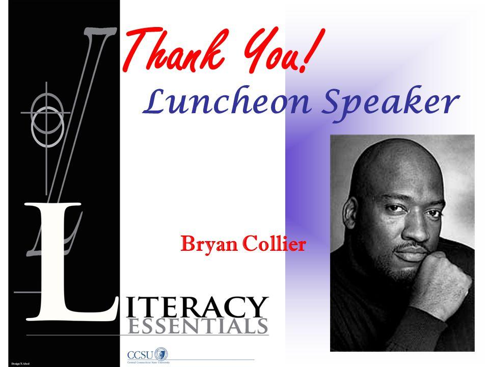Bryan Collier Thank You! Luncheon Speaker