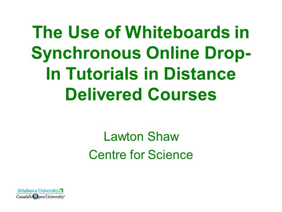 Text + audio + whiteboard Elluminate approach Auditory, Visual, Kinesthetic Learning Styles BONUS: Multiple participants.