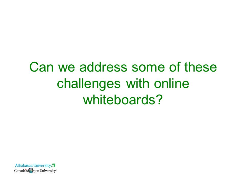 Can we address some of these challenges with online whiteboards