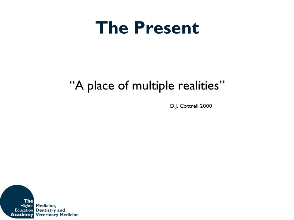 "The Present ""A place of multiple realities"" D.J. Cottrell 2000"