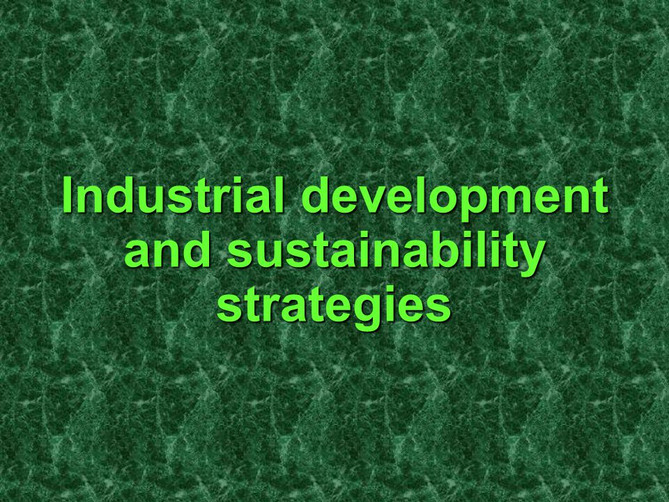 Industrial development and sustainability strategies