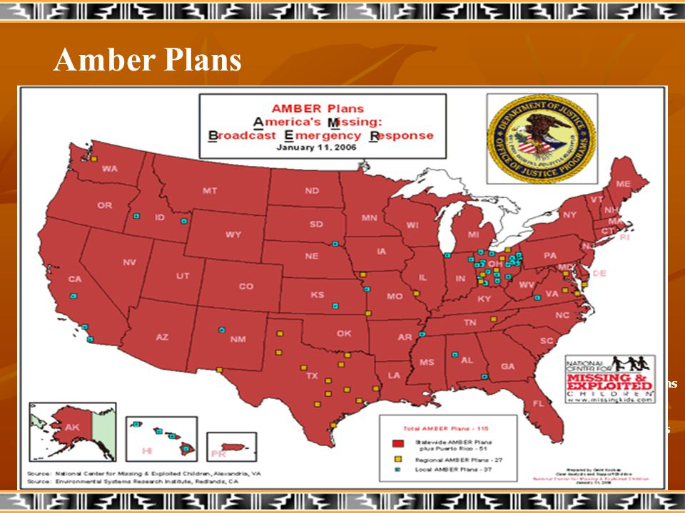 Amber Plans Statewide Amber Plans Regional Amber Plans Local Amber Plans No Plans