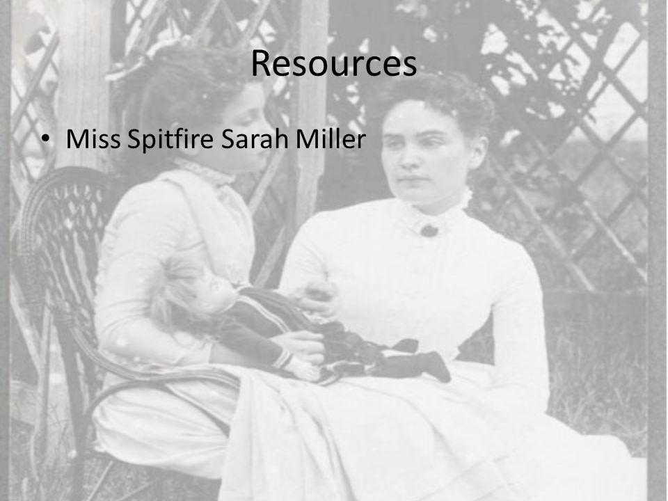 Resources Miss Spitfire Sarah Miller