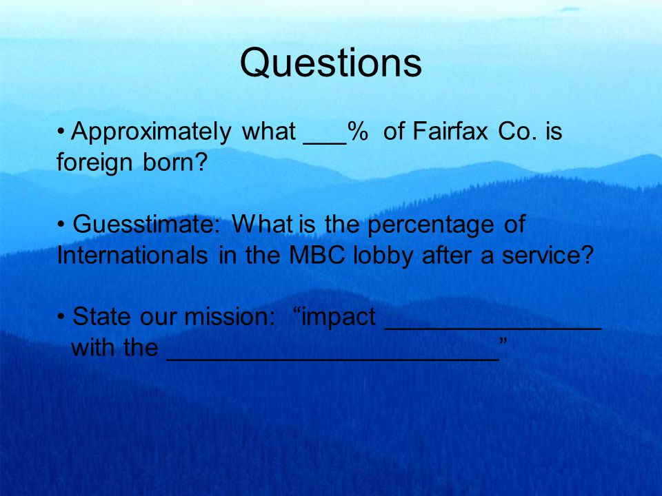 Approximately what ___% of Fairfax Co. is foreign born.