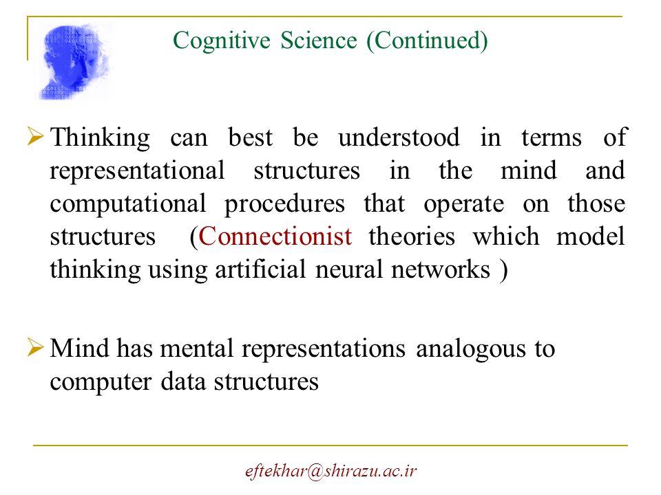 eftekhar@shirazu.ac.ir The Turing Test vs.