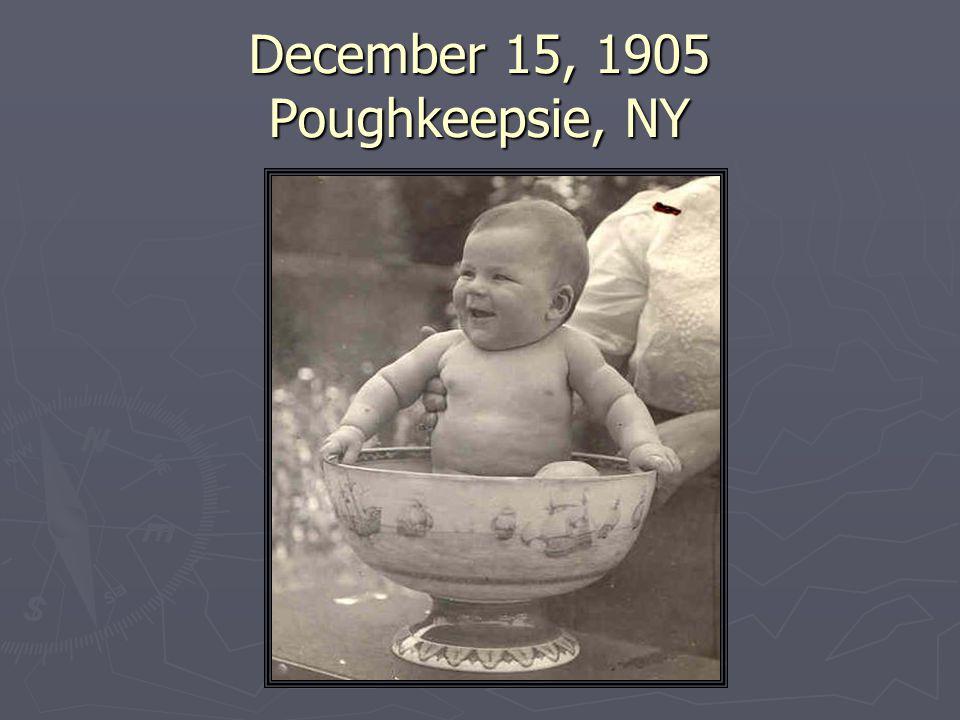 December 15, 1905 Poughkeepsie, NY