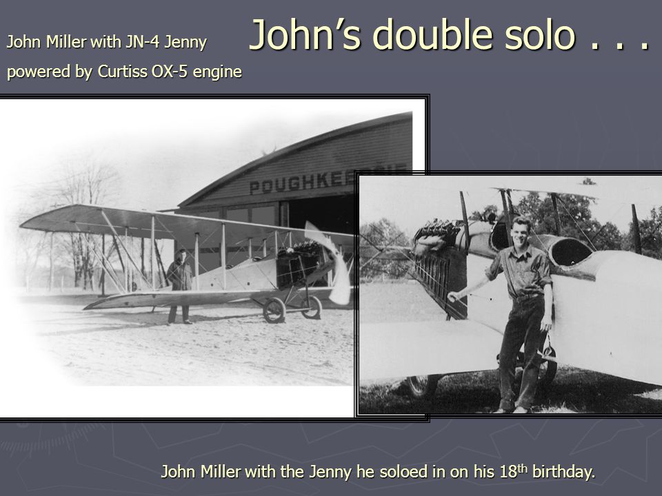 John's double solo...