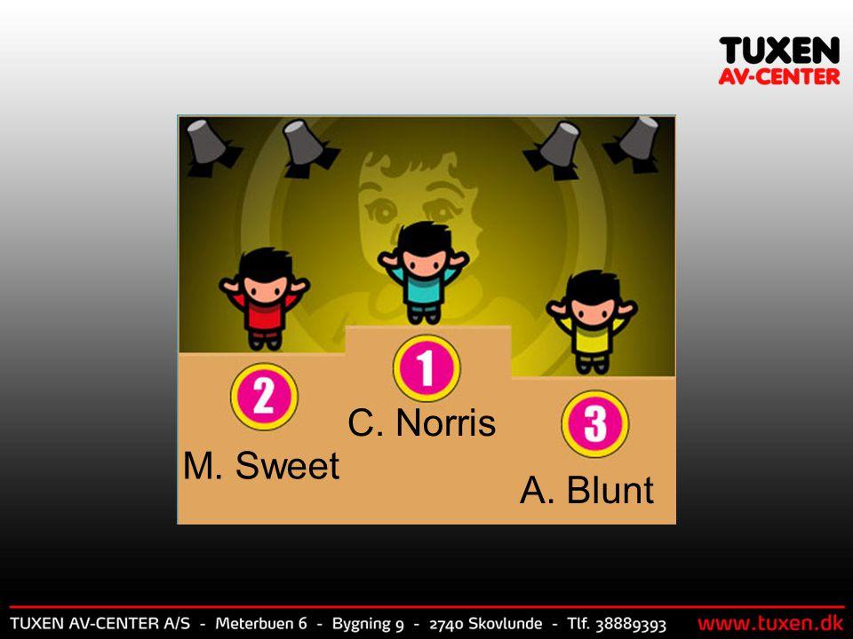 C. Norris M. Sweet A. Blunt