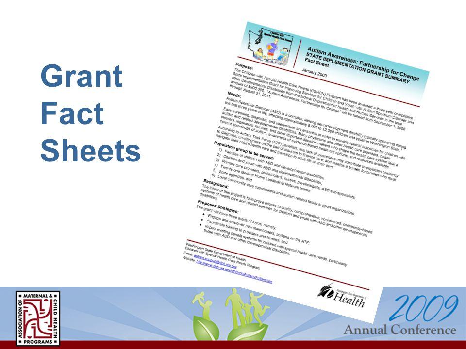 Grant Fact Sheets