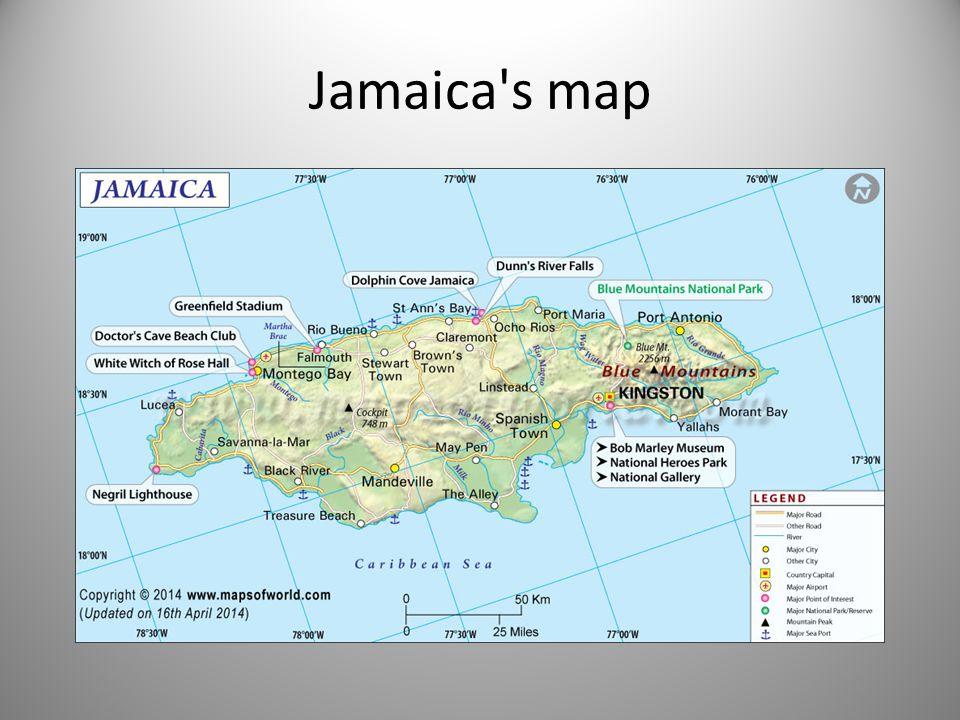 Jamaica s map