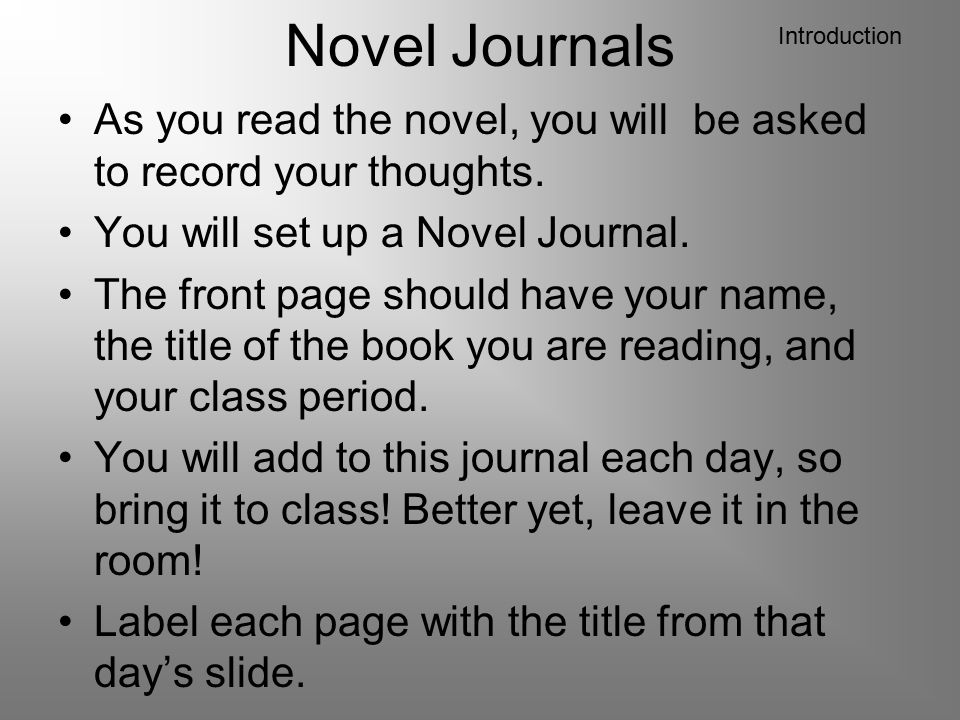 Journals: Memories Write down at least 3 of the phrases from Chapter 11 that help you create a mental picture.