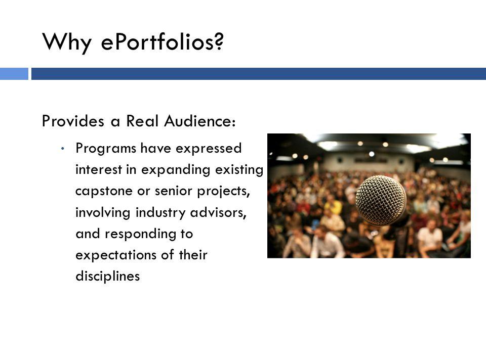 Why Professional ePortfolios.
