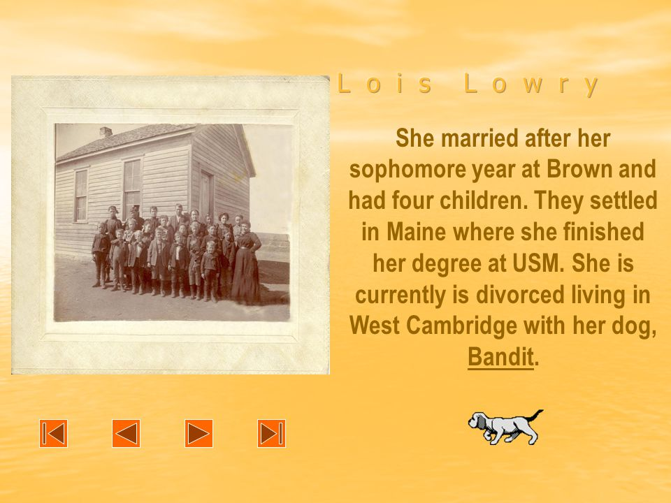 She married after her sophomore year at Brown and had four children.