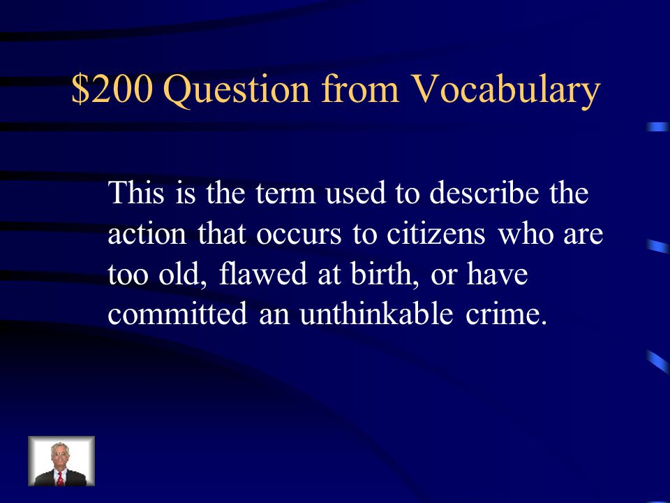 $100 Answer from Vocabulary Childless Adults