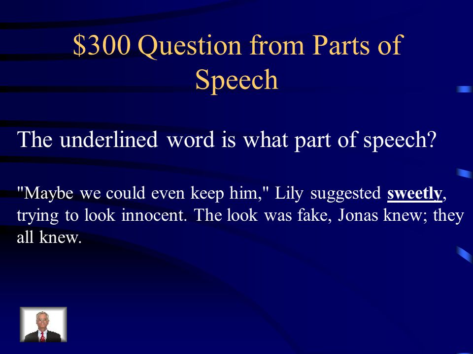 $200 Answer from Parts of Speech Verb