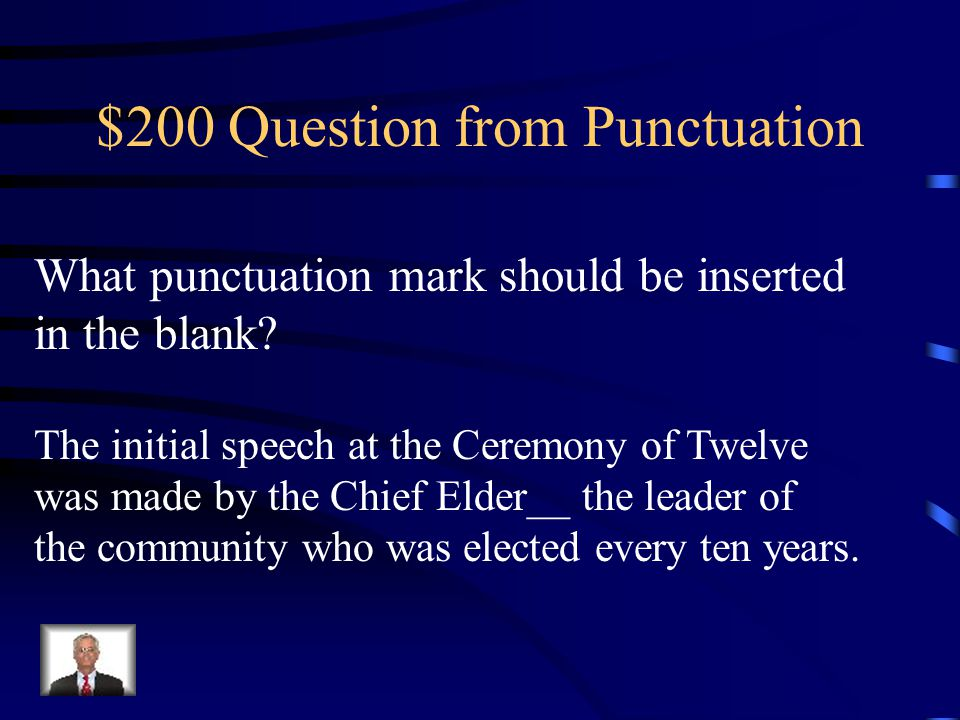 $100 Answer from Punctuation Comma