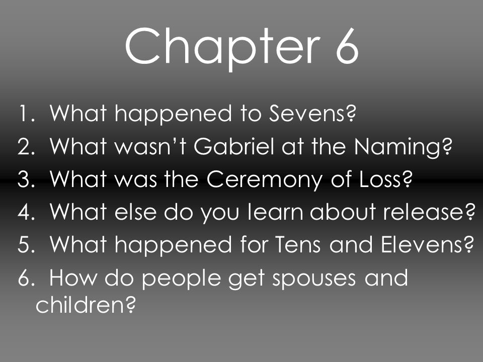 Chapter 7 1.What is Jonas' number. How are they assigned numbers.