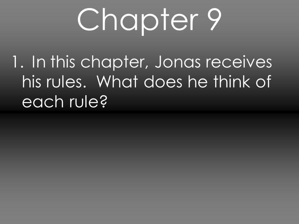Chapter 10 1.How is Jonas treated by the secretary.