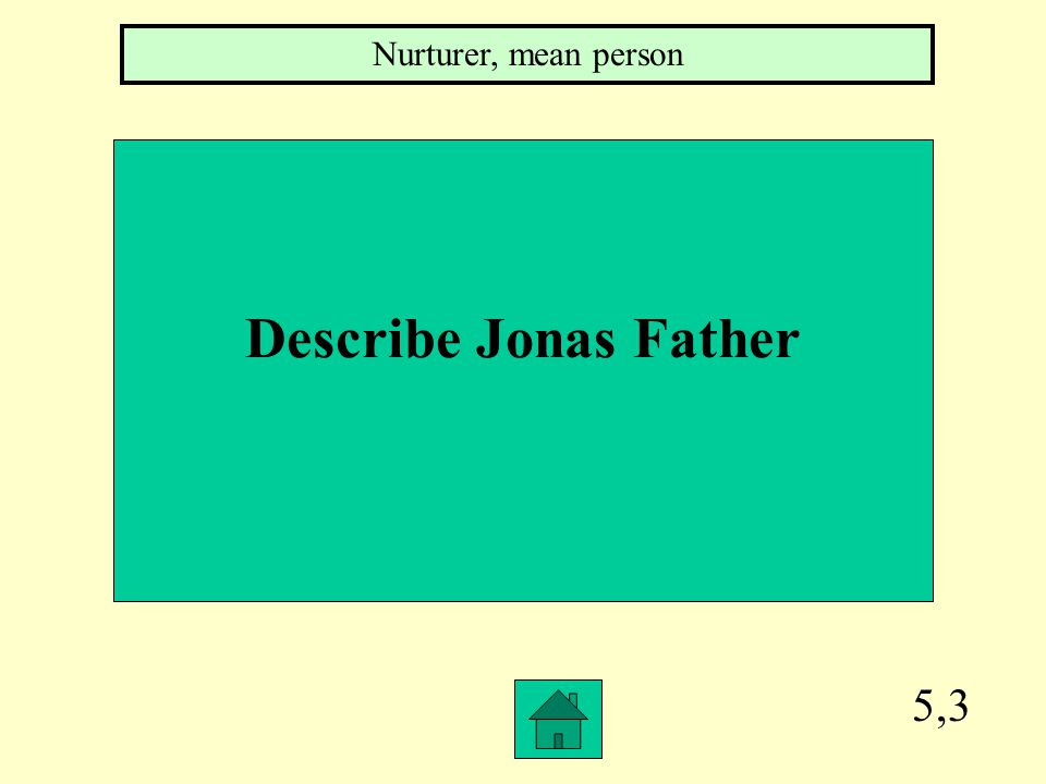 5,2 Describe jonas's mother A lawyer, family unit