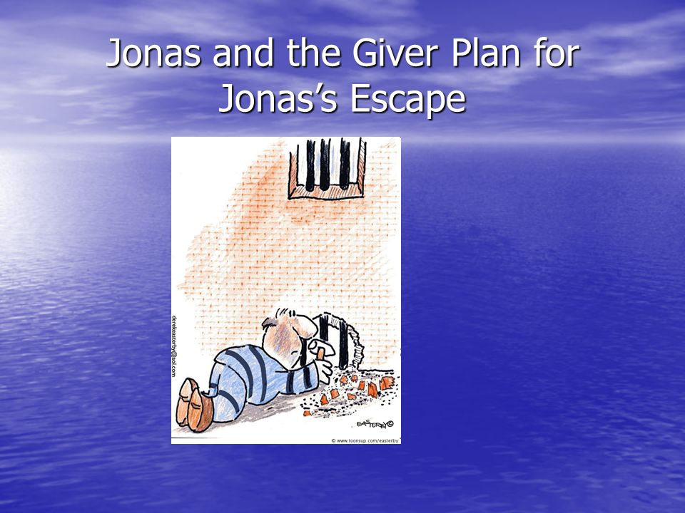 Jonas and the Giver Plan for Jonas's Escape