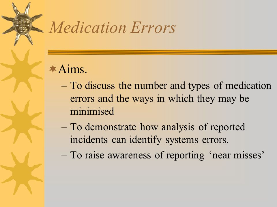 Medication Errors  Aims.
