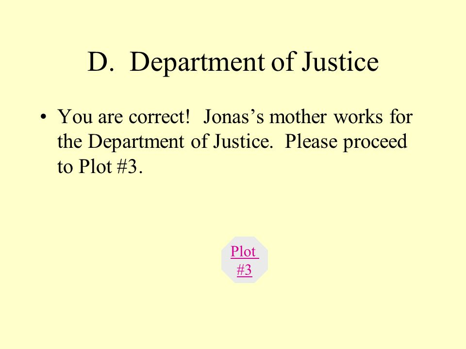 C. Birthmother This answer is incorrect. Please return to Plot #2 and try again. Try Again.