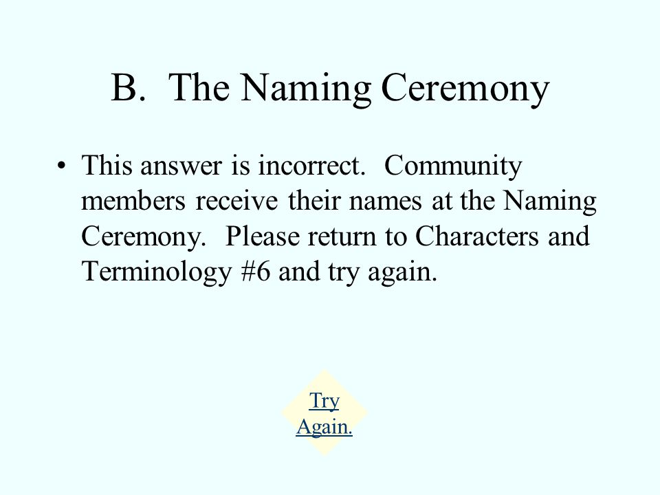 A. The Ceremony of Twelve This answer is incorrect.