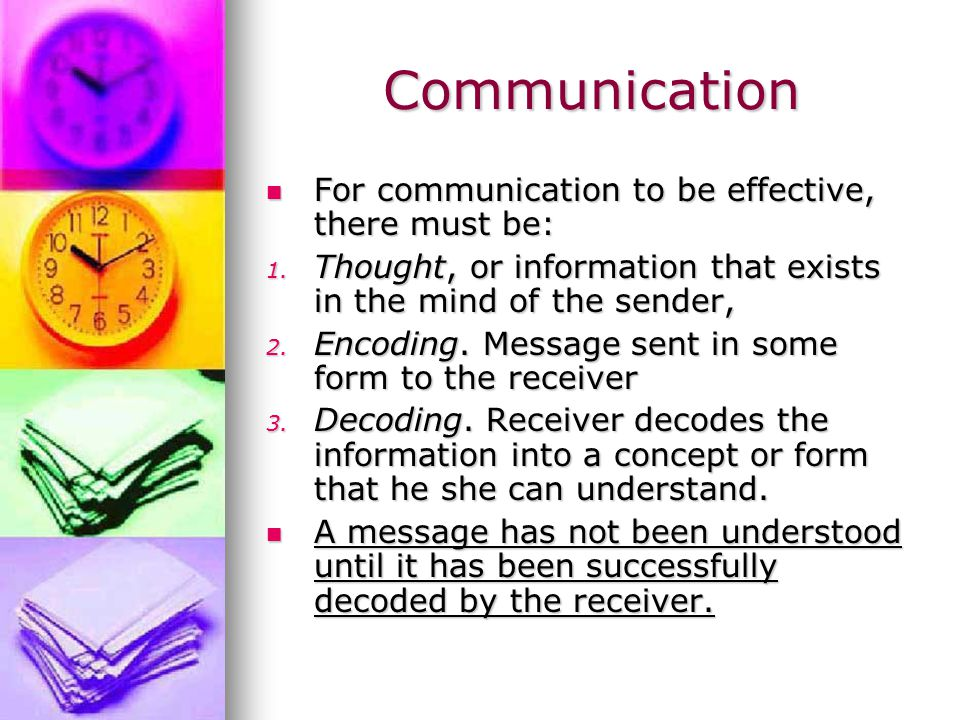 GOOD Communication Signs of GOOD communication: 1/Listening - Active and Reflective 2/Attending – concentrating on what is being said 3/ Posture of involvement – holding yourself in an interested manner 4/ Using appropriate body motion – that displays that you are listening 5/ Eye contact between the 2 parties 6/ Non-distracting environment