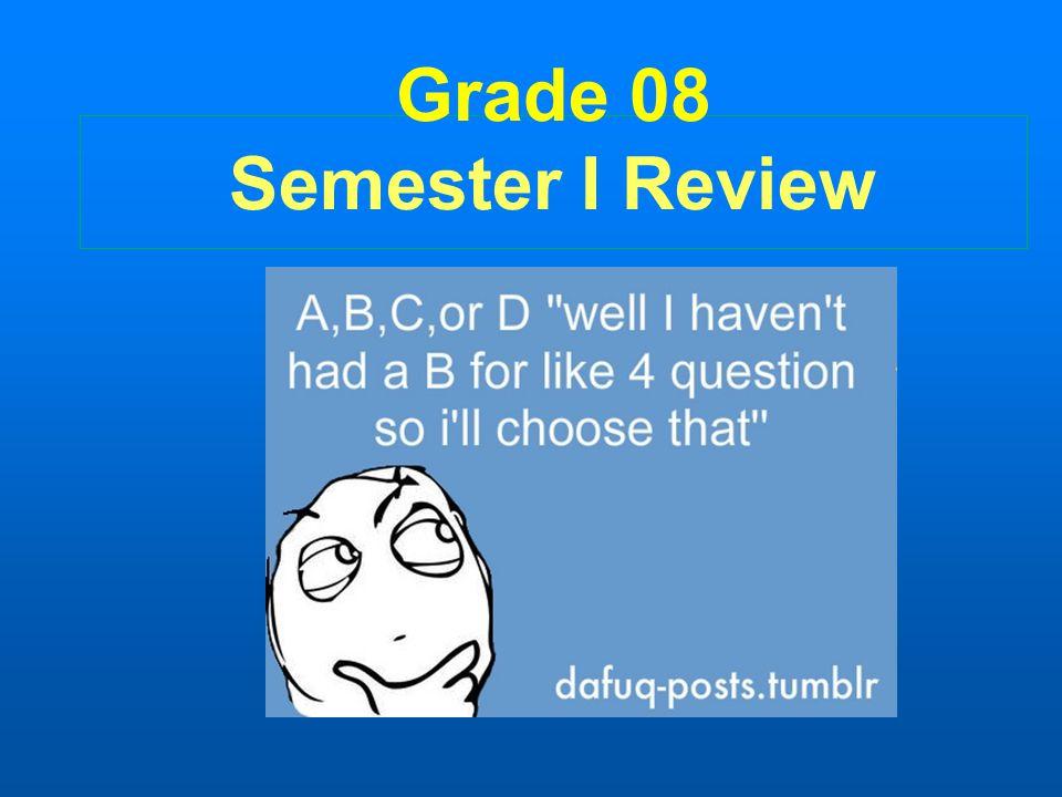 Grade 08 Semester I Review