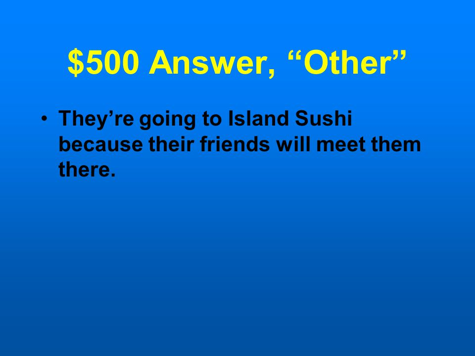 $500 Question, Other Choose the sentence that does not contain any errors in grammar, usage, or punctuation.