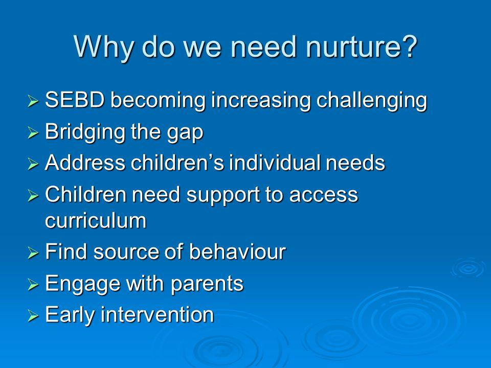 Why do we need nurture.