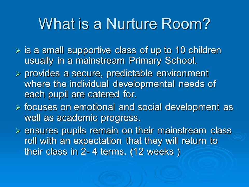 What is a Nurture Room.
