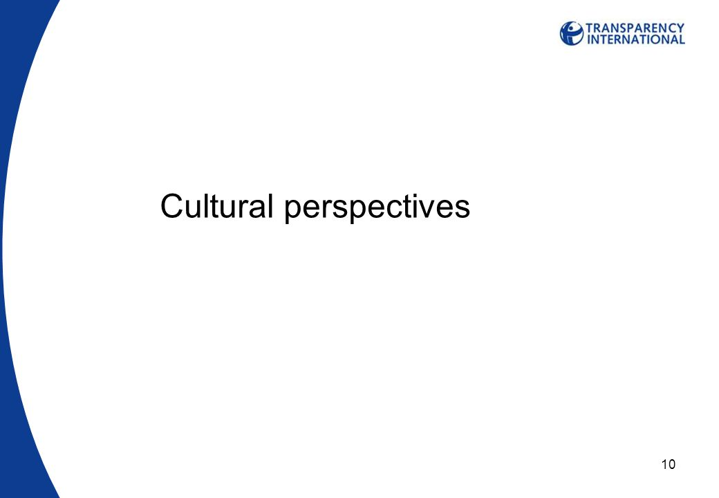 10 Cultural perspectives