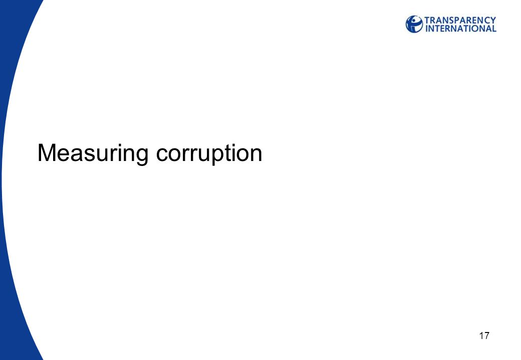 17 Measuring corruption