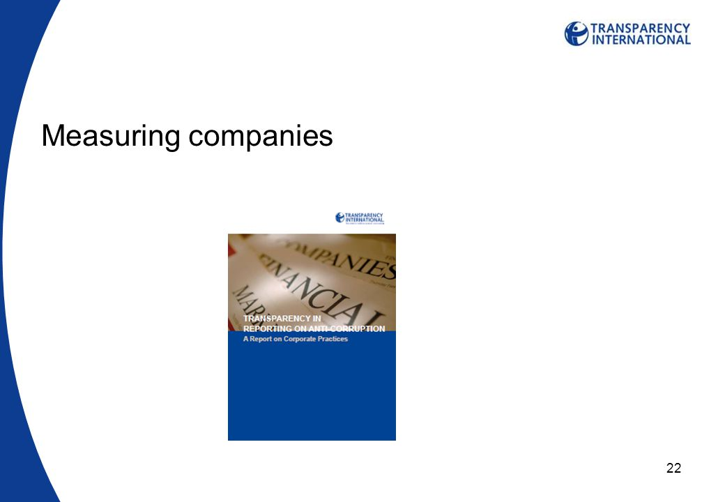 22 Measuring companies