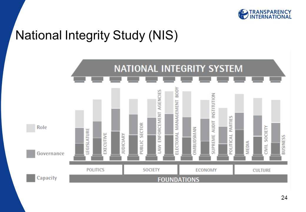24 National Integrity Study (NIS)